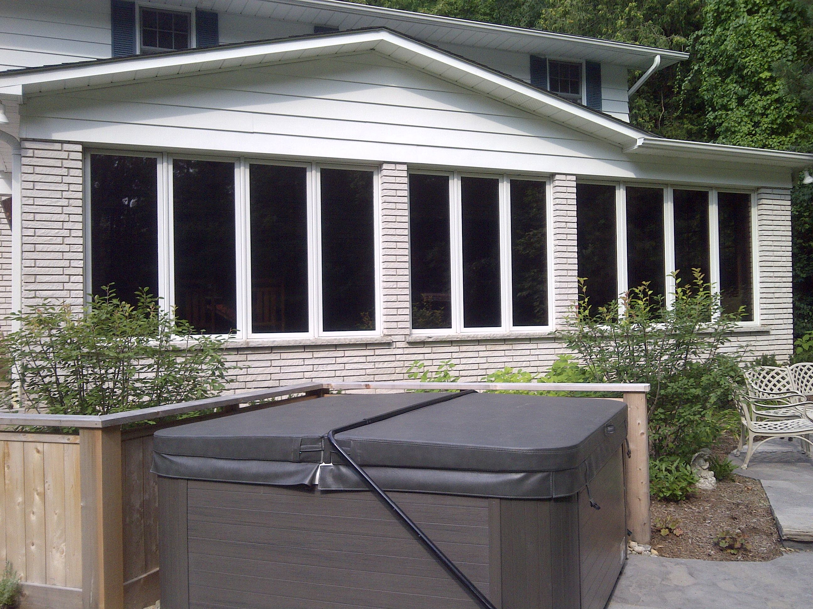 Window tinting films and architectural finishes barrie muskoka guelph home window tint - Exterior window tint for homes ...
