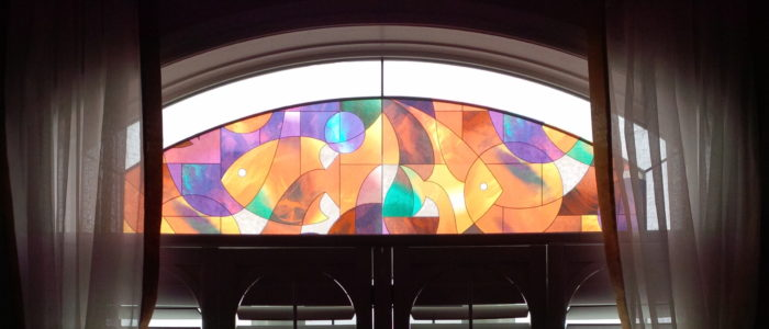 Solax Decorative Film - Stained Glass Fish