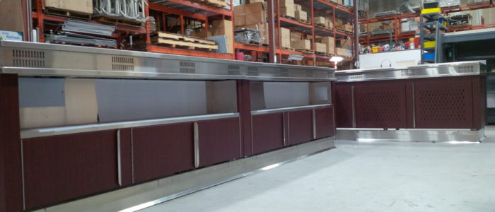 After - 3M Di-Noc on Stainless Servery Cabinets